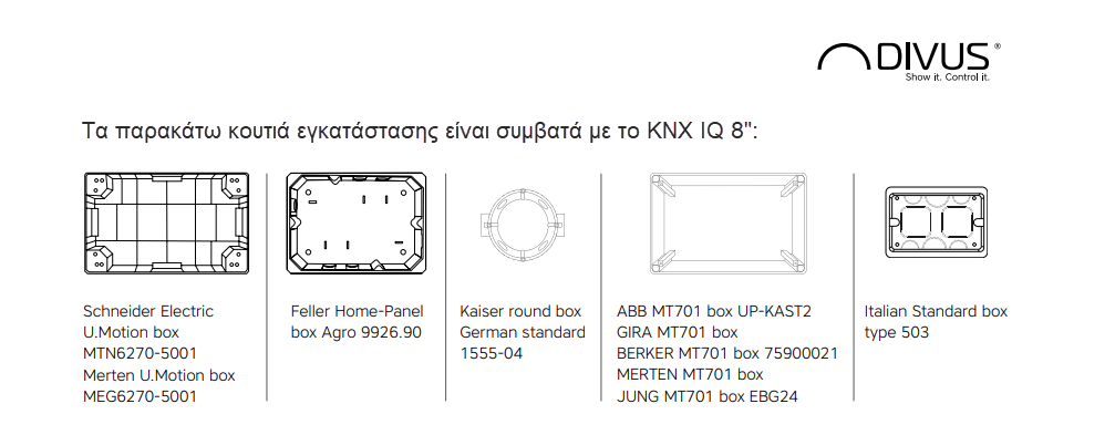 divus knx iq boxes